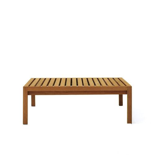 tavolino basso moderno / in teak / rettangolare / da interno