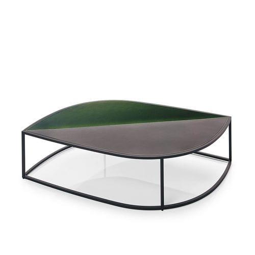 tavolino basso moderno / in acciaio inossidabile / da giardino / di Gordon Guillaumier