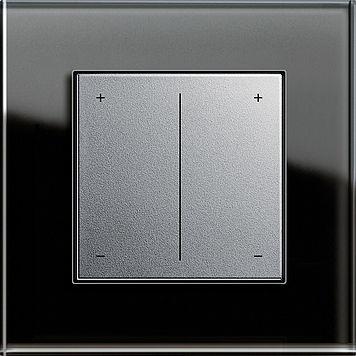 dimmer per illuminazione / a pulsante scorrevole / ad incasso / in plastica