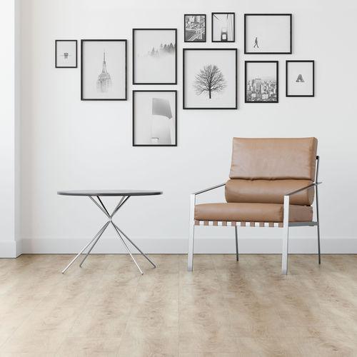 pavimento laminato in quercia / da incollare / aspetto legno / per uso residenziale