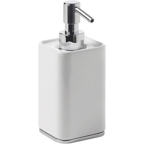 distributore di sapone contract / da appoggio / in metallo cromato / in ceramica