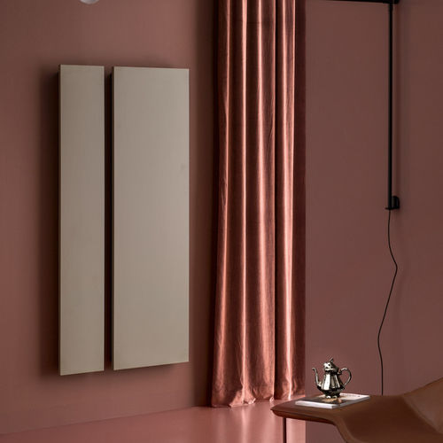 radiatore ad acqua calda / in metallo / moderno / rettangolare