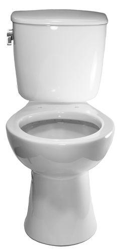 WC da appoggio / in ceramica / con maniglia a leva / per bagno pubblico
