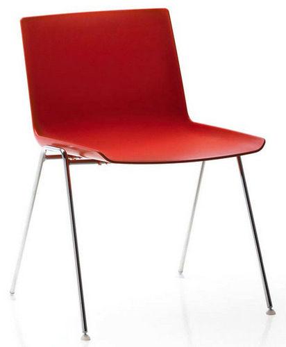 sedia visitatore moderna / impilabile / rivestita con vernice poliuretanica / in polipropilene