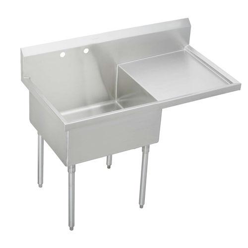 mobile lavello in acciaio inox / su piedi / per cucina professionale / contract