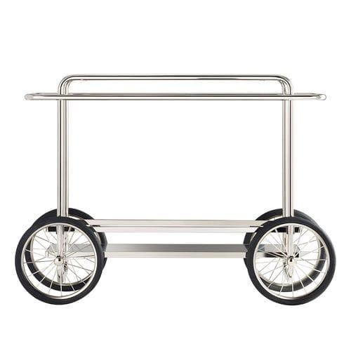 carrello portavivande di servizio / per uso residenziale / in quercia / in acciaio