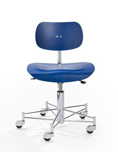 sedia operativa in compensato stampato / con rotelle