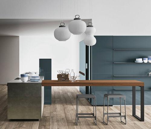 cucina moderna / in zinco / in laminato / con isola