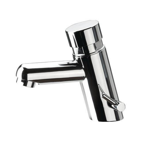 miscelatore per lavabo / in ottone cromato / temporizzato / da bagno