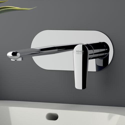 miscelatore per lavabo / da incasso / in ottone cromato / da bagno