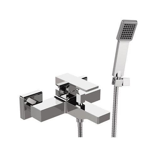 miscelatore per vasca / da parete / in ottone cromato / da bagno