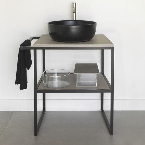 supporto per lavabo in alluminio