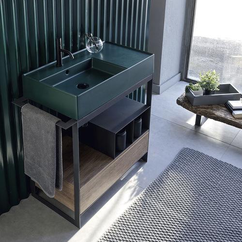 supporto per lavabo in metallo