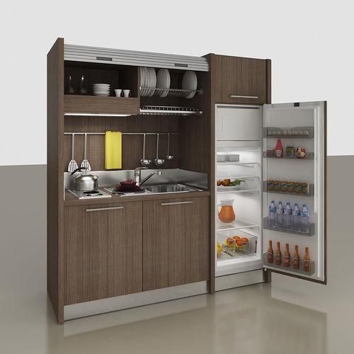 mini cucina a scomparsa / compatta / con elettrodomestici integrati / per monolocale