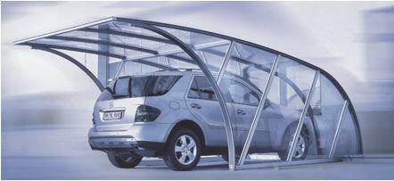 tettoia per posto-auto in alluminio / in policarbonato