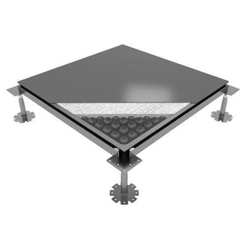 pavimento sopraelevato in acciaio