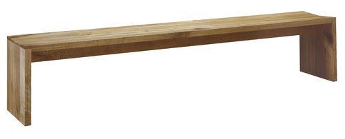 panca moderna / in quercia / in legno massiccio / in noce