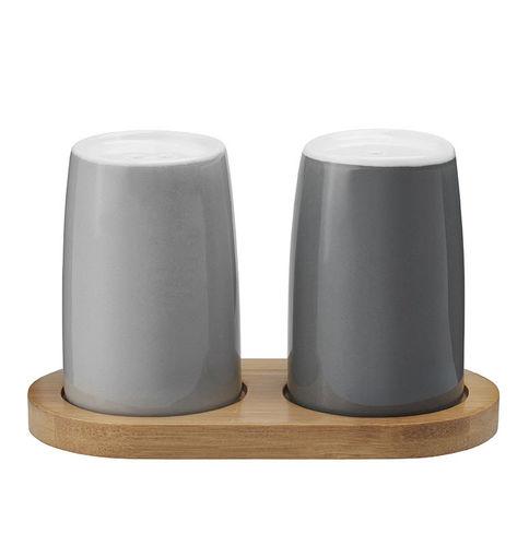 portasale e portapepe in pietra arenaria / in bambù / per uso domestico