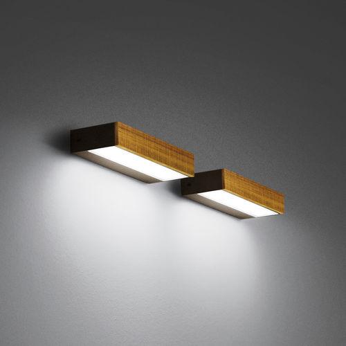 applique moderna / da esterno / in vetro / legno