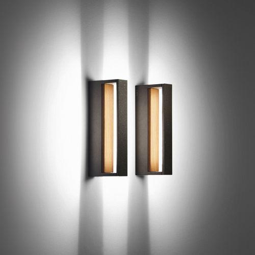 applique moderna / da esterno / in vetro / in teak