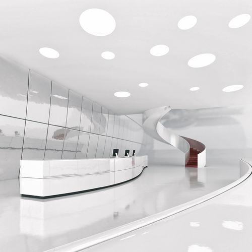 luce da incasso a soffitto / LED / tonda / in vetro opalescente
