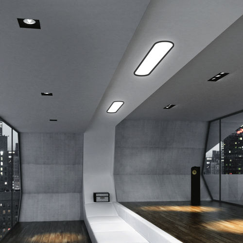luce da incasso a soffitto / LED / ovale / in vetro acrilico
