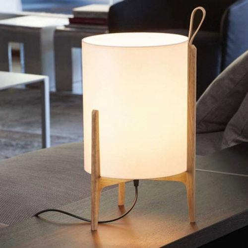 lampada da tavolo / moderna / in lino / in quercia