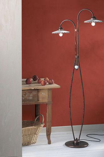 lampada da terra / classica / in metallo / da interno