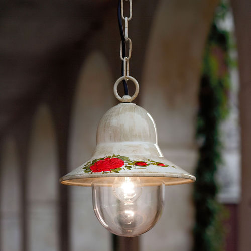 lampada a sospensione / classica / in vetro / in ceramica