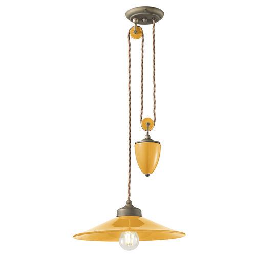 lampada a sospensione / classica / in ceramica / da interno