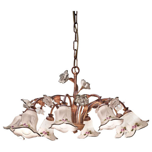 lampadario classico / in metallo / in vetro