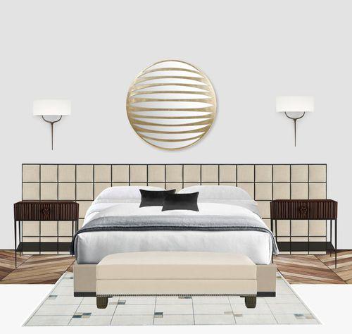 letto king size / queen size / moderno / imbottito