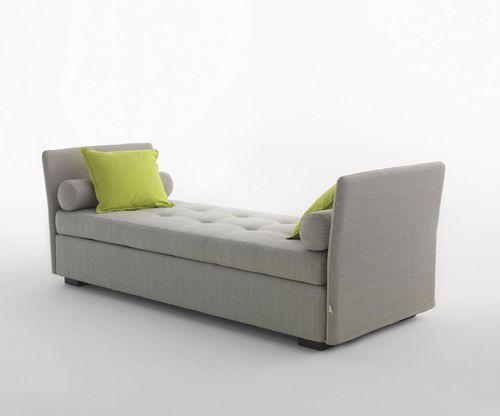 divanetto imbottito moderno / in tessuto / da sala