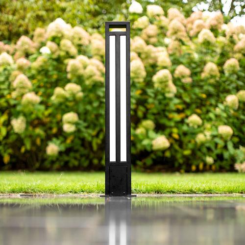 lampioncino da giardino / moderno / in acciaio inossidabile / in acciaio con rivestimento a polvere