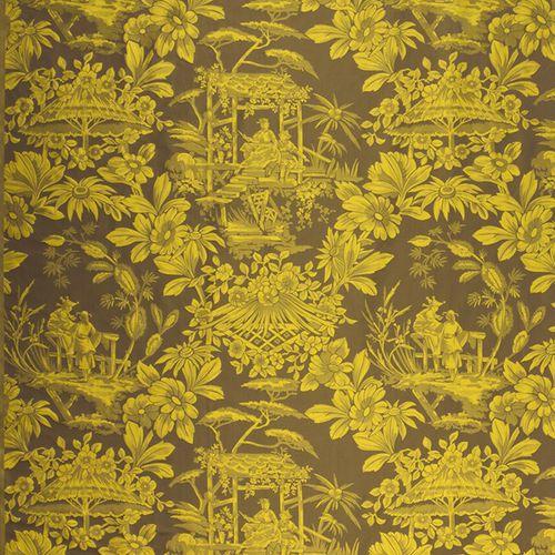 tessuto per tende / a fiori / motivi cinesi / in seta