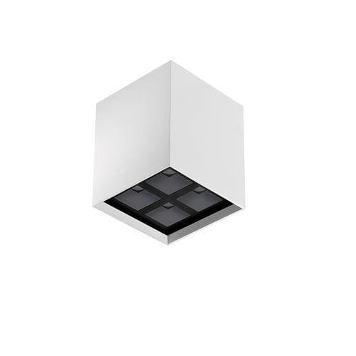 plafoniera moderna / quadrata / in alluminio / in acciaio