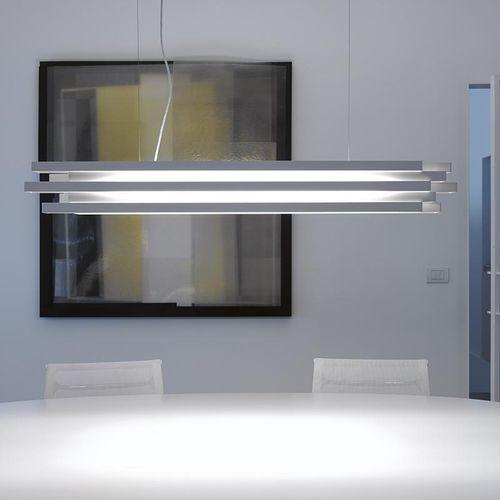 lampada a sospensione / moderna / in alluminio verniciato / in metacrilato