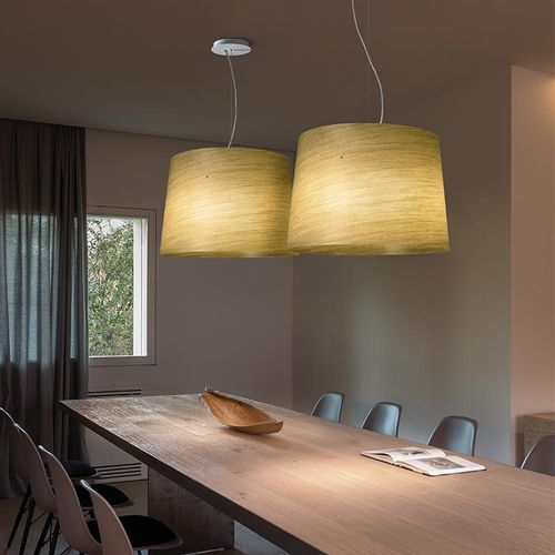 lampada a sospensione / moderna / in metacrilato / in fibra di vetro