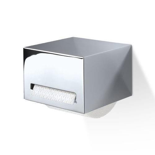 distributore di carta igienica da parete / in ottone cromato / in ottone placcato oro / contract