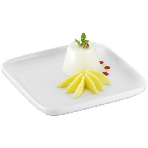 piatto di servizio / per dessert / quadrato / in porcellana
