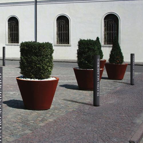 colonna di protezione / in acciaio inossidabile / fissa / alta
