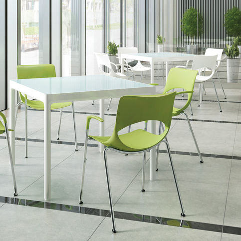 sedia visitatore moderna / impilabile / con certificazione Greenguard® / in metallo