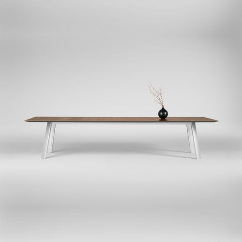 tavolo da conferenza moderno / in legno / con supporto in metallo / rettangolare