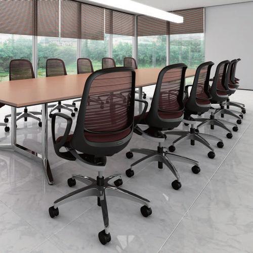 poltrona da ufficio moderna / in rete / in metallo / con rotelle