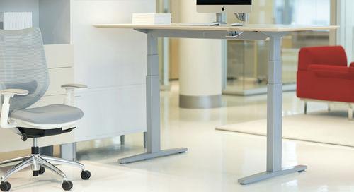 scrivania in legno / in metallo / moderna / contract
