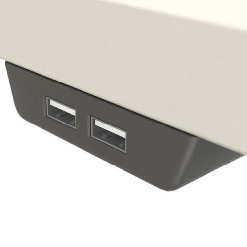 presa USB / doppia / non incassato / moderna