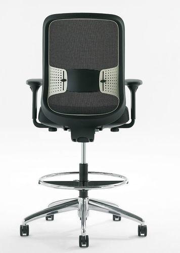 sgabello da ufficio in rete / con rotelle / regolabile / girevole