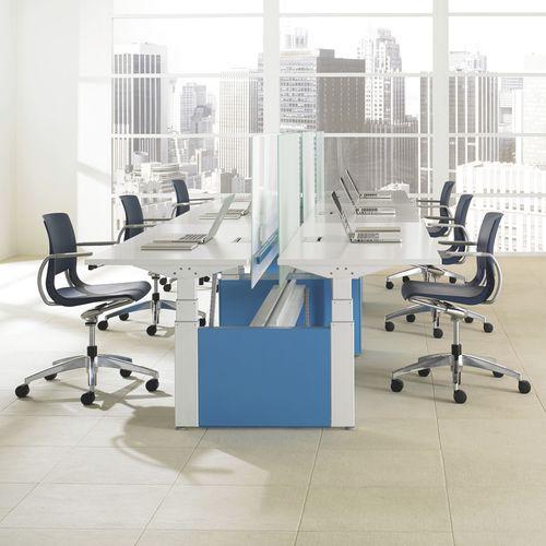 poltrona da ufficio moderna / in plastica / alluminio / girevole