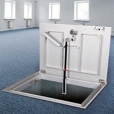 botola per pavimento / quadrata / rettangolare / in alluminio