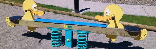 gioco a molla in legno massiccio / animale / 2 posti